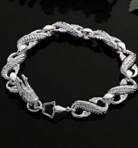 Новый браслет дракон стерлинговое серебро 925