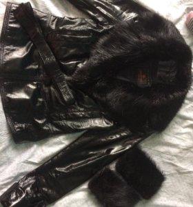 Демисезонная куртка натуральная кожа