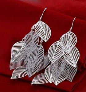 Новые серьги стерлинговое серебро 925