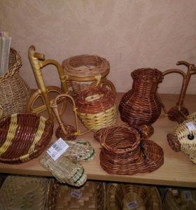 Сувениры из ротанг ручной работы