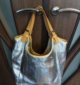 Новая сумка Италия Серебро