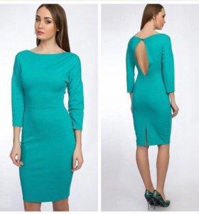 Платье трикотажное, бирюзовое (новое)