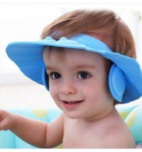 Козырёк с ушками для купания малыша