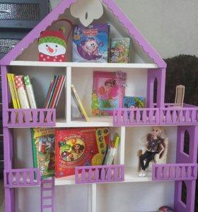 Детский домик для кукол-стеллаж