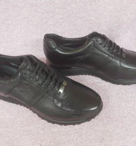 Кожанные ботинки Louis Vuitton