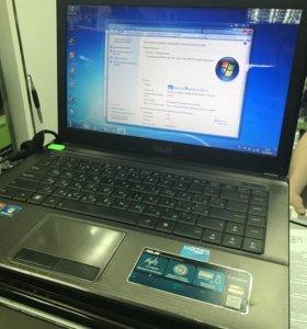 Компактный ноутбук Asus x44 i3 4gb hd+7470m