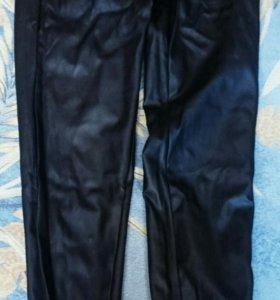 Штаны кожа,джинсы