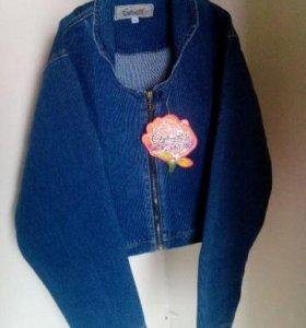 Укороченная джинсовая куртка (XS)