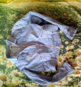Джинсовая рубашка куртка