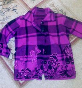 пиджак трикотажный 46. Новый
