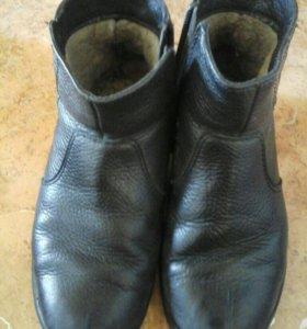 Зимние ботинки натуральный мех