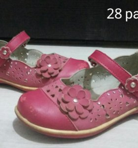 Туфли для девочки р.28