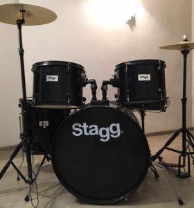 Акустическая барабанная установка Stagg TIM122BK