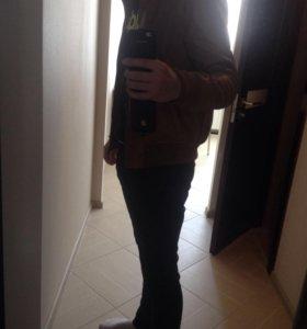 Современная дерматиновая куртка