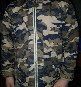 Стеганая куртка 4-5лет zara