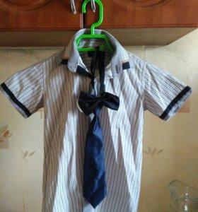 Рубашка,галстук,бабочка