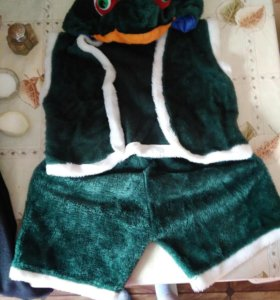 Новогодний костюм,лягушка,один раз одели