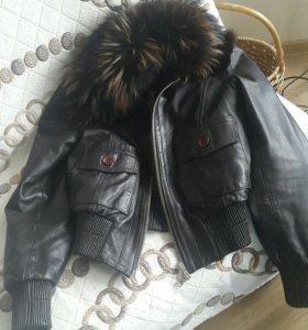 Кожаная Куртка Италия Vera Pelle (С мехом)🔥🔥🔥