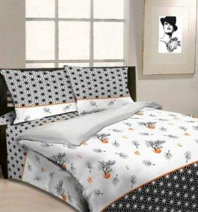 Натуральное постельное белье 1.5-сп бязь