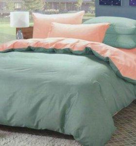 Отличное постельное белье еврокомплект сатин