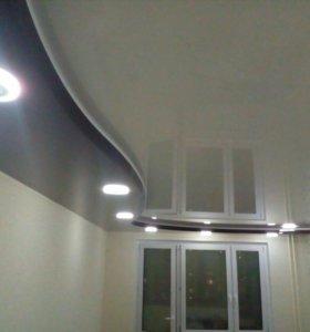 Натяжной потолок с нашими светильникам