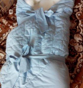 Конверт одеялко, на выписку