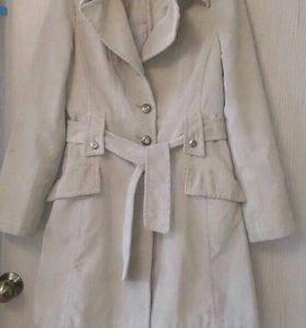 Вельветовое пальто 44-46