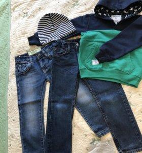 Толстовка и джинсы для мальчика 3-4 года
