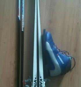 Лыжи +ботинки