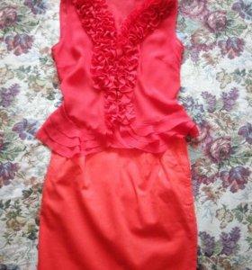 Юбка и нарядная блузка