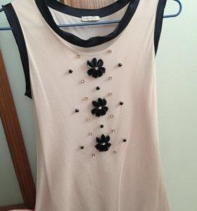 Топ/блуза со стразами и цветами Penny Black