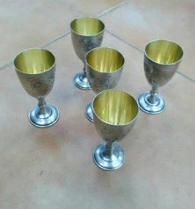 Рюмки серебро
