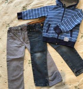 Толстовка и джинсы для мальчика 2-3 года