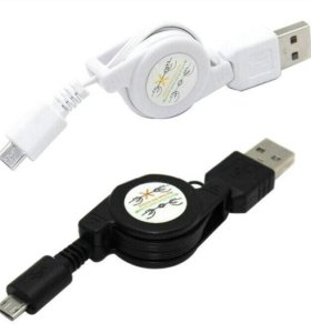 Micro USB кабель растягивающийся