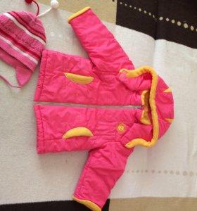 Куртка на весну для девочки 2-3 лет. Шапочку дарю.
