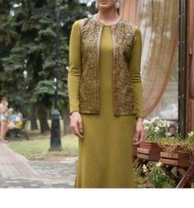 Костюм платье + жакет с поясом