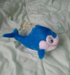 Игрушка кит бархатная