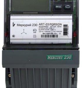 Счётчик меркурий 230 многотарифный, трехфазный.