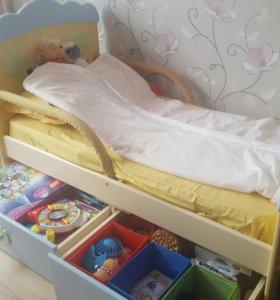 Детская кровать и комод puffa пчёлка