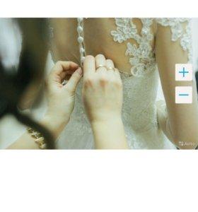 Свадебное платье 40р