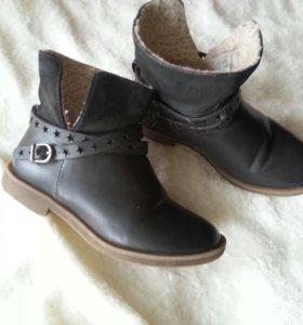 Кожанные ботиночки zara