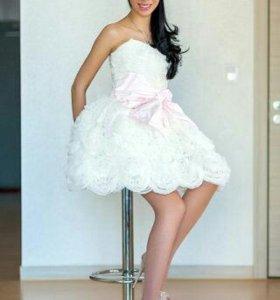 Короткое свадебное Платье!!!