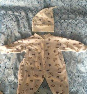 Спальный комбез-пижама с шапочкой