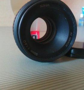 Объектив nikon af nikkor 50mm 1:1.8 D