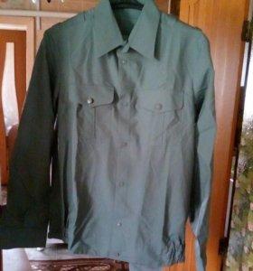 Сорочка с длинным рукавом(олива)