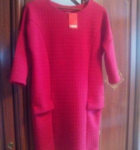 Новое трикотажное платье р.44