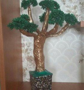 """Дерево """"Бонсай"""" из бисера"""