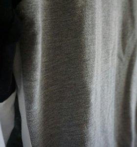 Кофта, длинные рукава, черно белая