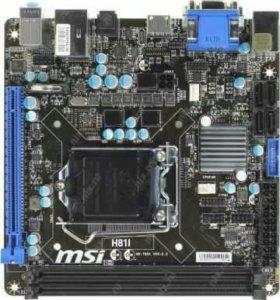 MSI H81I (RTL) LGA1150 < H81 > PCI-E Dsub+DVI+HDMI