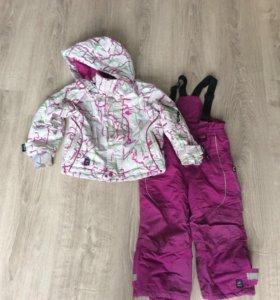 Зимний комбинезон и куртка 98